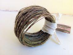 Wirecore : Arboretum 30 yards of plant-dyed art yarn corespun by eatAGAR