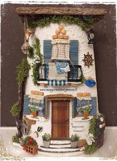 icu ~ Momycreazioni di M. Focà - Home Diy Crafts Slime, Tile Crafts, Craft Stick Crafts, Clay Crafts, Arts And Crafts, Miniature Fairy Gardens, Miniature Houses, Diy Mini Album, Popsicle Stick Houses