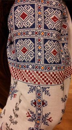 Ukraine, from Iryna Folk Embroidery, Beaded Embroidery, Cross Stitch Embroidery, Embroidery Patterns, Cross Stitch Patterns, Palestinian Embroidery, Embroidery Techniques, Costume, Cross Stitching
