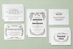 Chalkboard Letterpress Wedding Invitations by Alethea and Ruth | Minted