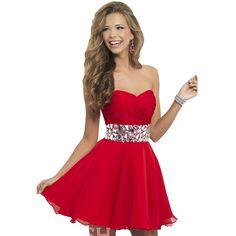 Cheap Corto Red Homecoming vestidos de gasa Semi vestidos formales con los Rhinestones rebordeó vestidos del partido vestidos, Compro Calidad Vestidos de Gala directamente de los surtidores de China:                                                                                     Aviso: