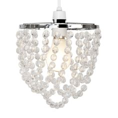 Modern Chrome and Clear Jewel Ceiling Light Pendant Shade http://www.clarolighting.co.uk/products/modern-chrome-and-clear-jewel-ceiling-light-pendant-shade.html