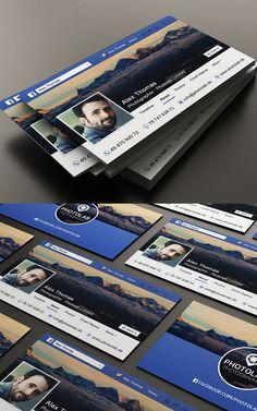 Facebook Business Card #businesscards #branding #psdtemplates