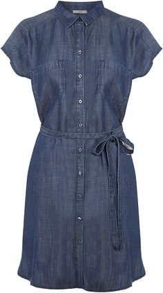 Womens french navy shirt dress from Oasis - £45 at ClothingByColour.com