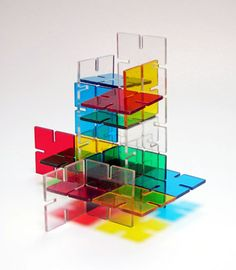 Playplax- are polystyrene shapes that interconnect so that the child can create unlimited structures, towers, and shapes. Loved this as a kid. Made in England c1970's