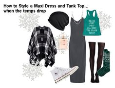 """""""How To: Style Summer Clothes for Winter Weather Part 1"""" by ommasana on Polyvore featuring rag & bone, Lipsy, Converse, SPANX and Old Navy"""