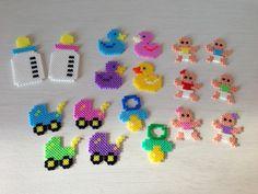 Baby crafts hama perler beads by Sasha Nielsen Perler Beads, Perler Bead Art, Fuse Beads, Melt Beads Patterns, Beading Patterns, Pearler Bead Patterns, Perler Patterns, Motifs Perler, 8bit Art