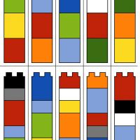 Lego Duplo - barevné věže - šablona Lego Duplo, Playroom, Bar Chart, Diagram, Lego Duplo Table, Game Room Kids, Game Rooms, Bar Graphs, Playrooms