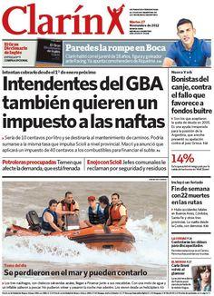 Intendentes del conurbano también quieren cobrar un impuesto a la nafta. Más información: http://www.clarin.com/politica/Intendentes-conurbano-quieren-cobrar-impuesto_0_818318271.html