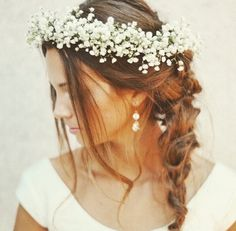 Coroa de Flores Mosquitinho Noiva.