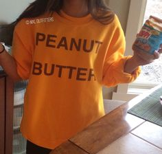 Peanut Butter Crewneck Sweatshirt *Machine wash COLD, Dry with LOW HEAT*