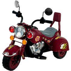 Maroon Marauder Motorcycle