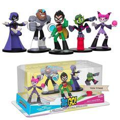 HEROWORLD Teen Titans Go DC Comics Action Figure Core Set Of Beast Boy, Cybor...  | eBay