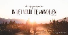 We zijn geroepen om in het Licht te wandelen. 1 Johannes 1:7 #Volgen, #Gehoorzaamheid, #Bemoediging, #Geest, #Kracht https://www.dagelijksebroodkruimels.nl/1-johannes-1-7/
