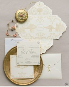 Luxury Wedding Invitations by Ceci New York - Our Muse - Multicultural Wedding - Be inspired by Vedia & Vladimirs multicultural wedding - wedding, invitations, letterpress printing