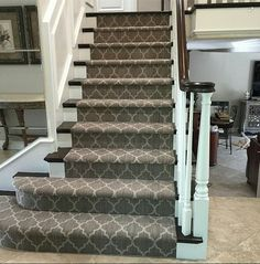 Taza carpet looks beautiful on this staircase!