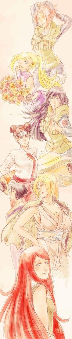 Naruto girls~•~ **the badass naruto girls