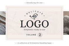 25 Delicate Feminine Logos - Vol 2 by Davide Bassu on @creativemarket