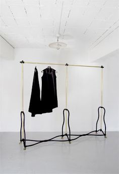 McQueen clothing rail by Faye Toogood