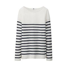 WOMEN Premium Linen Striped Sweater