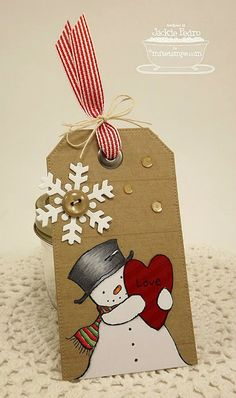 Happy Heart Snowman, Western Backgrounds, Striped Backgrounds, Pierced Traditional Tag STAX Die-namics, Let it Snowflake Die-namics - Jackie Pedro #mftstamps