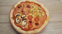 Négy évszak pizza Pepperoni, Vegetable Pizza, Vegetables, Food, Veggies, Essen, Vegetable Recipes, Yemek, Meals