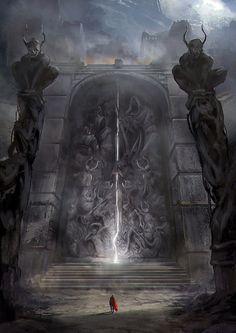 Concept Art by Jordan Grimmer #digitalart #monument #fantasy