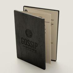 Gossip Menu by Grafix Design Studio