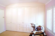 Custom designed wardrobes and doors to suit the decor of your child's bedroom. Walk In Wardrobe Design, Bed Wall, Wardrobes, Storage Solutions, Closets, Kids Bedroom, Home Office, Custom Design, Bedrooms