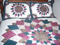 2  Quilted Pillow Shams by Traincasesandmore on Etsy, $20.00