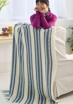 Winter Blue Throw - free crochet pattern