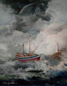 Eve dönüş  Oilpaintingoncanvas  Painter.Selim Güventürk  40x50 cms.dim. Ankara