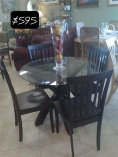 Rich sophisticated 5 pc cappuccino dinette table. Perfect for your eat in kitchen.-- Yesterdays Treasures Consignment 5829 Lone Tree Way Suite J Antioch - (925-233-4547) 1185 Second Street Suite H Brentwood - (925-516-8549) 996 Moraga Road Lafayette - (925-283-8549) www.yesterdayststore.com   ~CHECK IT OUT!!