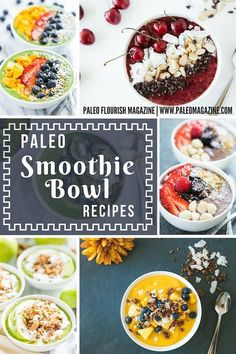 Get these 27 beautiful Paleo smoothie bowl recipes here - they're colorful, delicious, and completely Paleo. We've even included some Keto and AIP recipes.