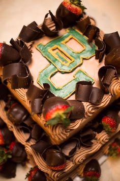 Amazing Baylor BU groom's cake!