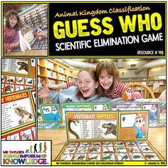 Animal Kingdom Classification: Guess Who Board Game Classification Of Vertebrates, Types Of Vertebrates, Vertebrates And Invertebrates, Animal Classification, Game Resources, Classroom Games, Sorting Activities, Different Games, Science Education