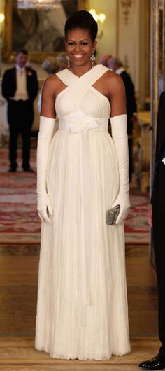 michelle obama @Tom John ford.  I'm not a fan but she looks gorgeous in this.