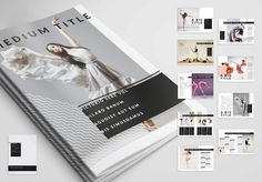 Safe time with your next magazine template, layout, brochure, program, events, black, elegant, brochure layout, dancing, dance, industry, minimal, modern, abstract, clean, black lines