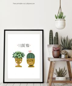We love Valentine's decor. It's so happy and so girly pink! And you know our love of succulents. Kelli just counted her cacti + house plant collection: 21! Yes, she talks to them too! This succulent I love you free printable is the perfect addition to a plant lover's home. Frame it for them or …