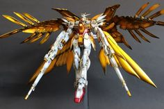 GUNDAM GUY: MG 1/100 Wing Zero Custom 'Gold Wing' - Painted Build