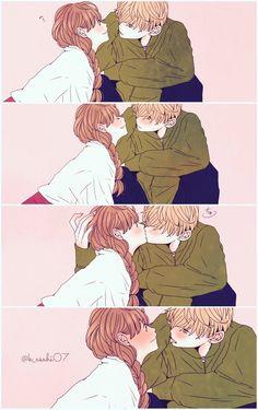 애니메이션 커플 colleges with black colors - Black Things Anime Couples Drawings, Anime Couples Manga, Manga Anime, Cute Couple Comics, Couples Comics, Couple Manga, Anime Love Couple, Anime Amor, Anime Kiss