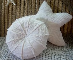 Recycled vintage chenille sea urchin pillow,Etsy, Fleeceofnature, nautical decor, #throw pillow#coastal living