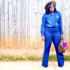 On Wednesdays we wear Denim on Denim. Check out my latest blog post Chambray Top + Denim Flares on Ali's Fashion Sense at www.alifashionsense.blogspot.com #atlantablogger #ootd #fashionblogger #styleinspiration #bgki