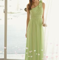 One Shoulder Ruffle Long Bridesmaid Dresses Celebrity Dresses A-Line Wedding Dresses   Buy Wholesale On Line Direct from China
