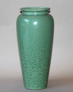 "Large Vintage Haeger Arts & Crafts Geranium Matt Leaf Green Art Pottery Vase 16"""