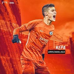 Everything you need to know about Kepa Arrizabalaga After the departure of Thibaut Courtois to Real Madrid, the former Premier. Hot Football Fans, Football Art, Chelsea Football, Football Players, Chelsea Blue, Chelsea Fc, Thibaut Courtois, Best Club, Football Wallpaper