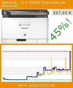 Samsung - CLX-3305W [Importado de Alemania] (Ordenadores personales). Baja 45%! Precio actual 337,95 €, el precio anterior fue de 614,51 €. http://www.adquisitio.es/samsung/clx-3305w-importado