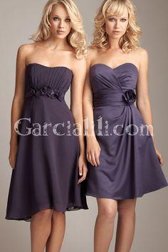 bridesmaid dresses purple and silver - Google Search