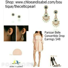 Today's Featured Product: Parisian Belle Convertible Drop Earrings $48 Shop: https://www.chloeandisabel.com/boutique/thecelticpearl/products/E404BLAG/parisian-belle-convertible-drop-earrings    #Summer #love #daily #Featured #product #Earrings #Convertible #clear #peach #white #opal #crystal #vintage #pink #mint #sapphire #resin #jewelry #fashion #accessories #style #shopping #shop #trendy #trending #trend #trends #boutique #chloeandisabel #thecelticpearl #lifetimeguarantee #online #buy