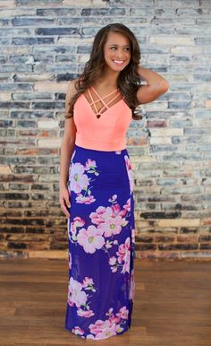 I need this dress for our honeymoon!!! The Pink Lily Boutique - The Luau Floral Maxi Dress, $42.00 (http://thepinklilyboutique.com/the-luau-floral-maxi-dress/)